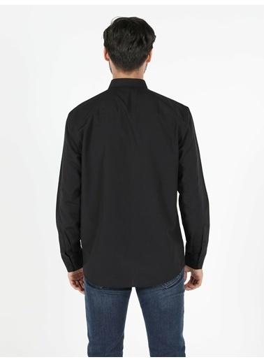 Colin's Regular Fit Shirt Neck Erkek Siyah Uzun Kol Gömlek Siyah